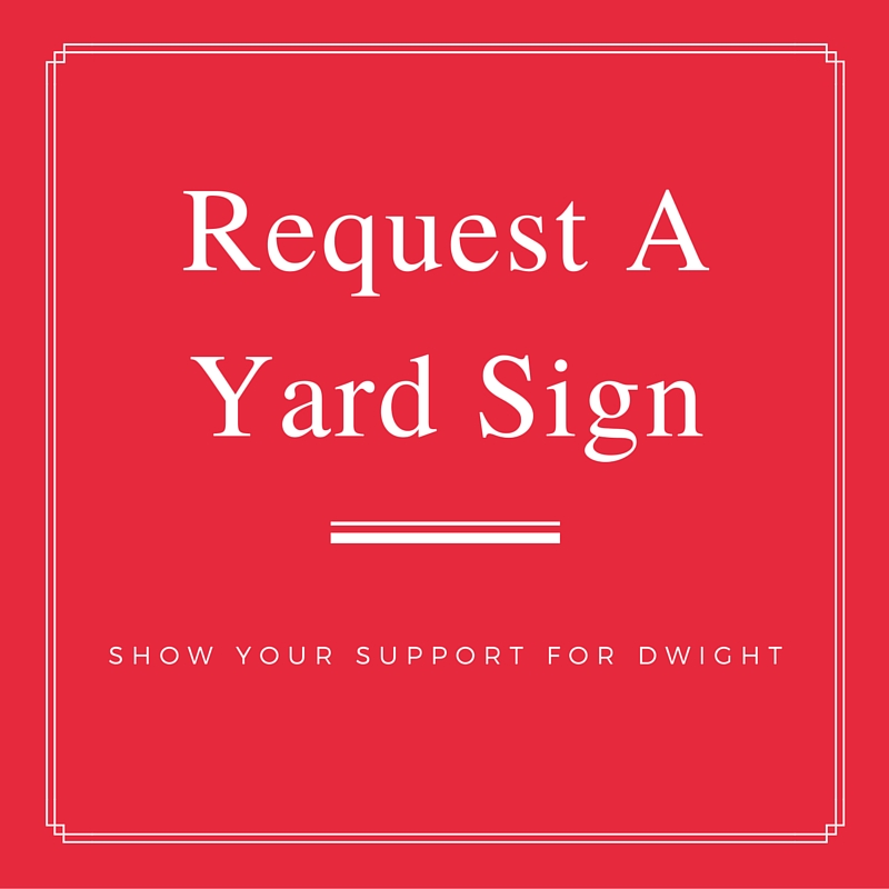 dwight hudson yard sign